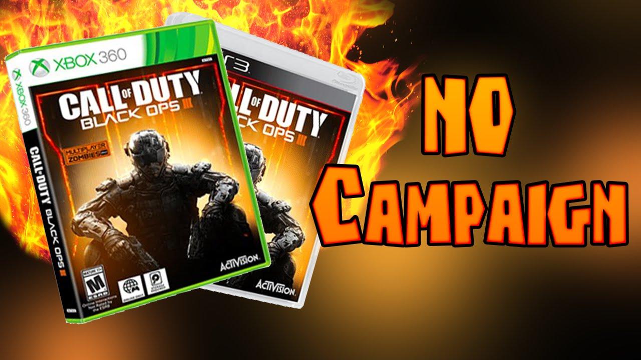 NO CAMPAIGN IN COD BO3 LAST GEN VERSION(Xbox 360 & PS3 ...Video Games Xbox 360 Bo3