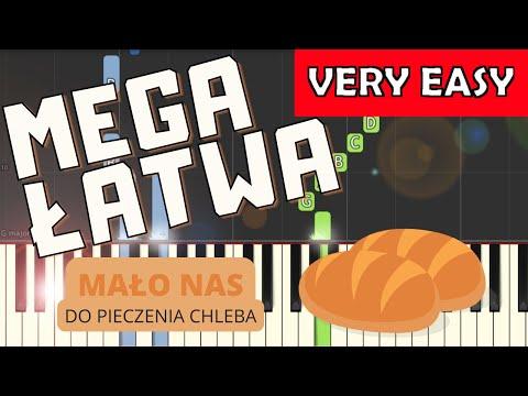 🎹 Mało nas do pieczenia chleba - Piano Tutorial (MEGA ŁATWA wersja) 🎹