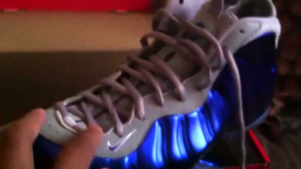 a47acc60ca6 NEW!!! Nike foamposite one Royal Blue and Grey  Review  - YouTube