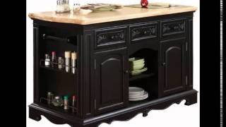 Kitchen Island Counter Granite Sitting Eating Drawers Storage Spice Rack Cutting