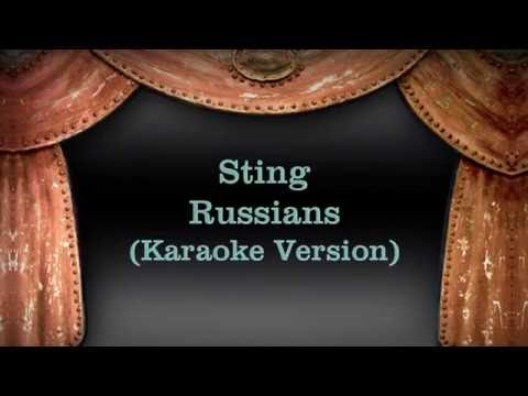 Sting - Russians (Karaoke Version) Lyrics