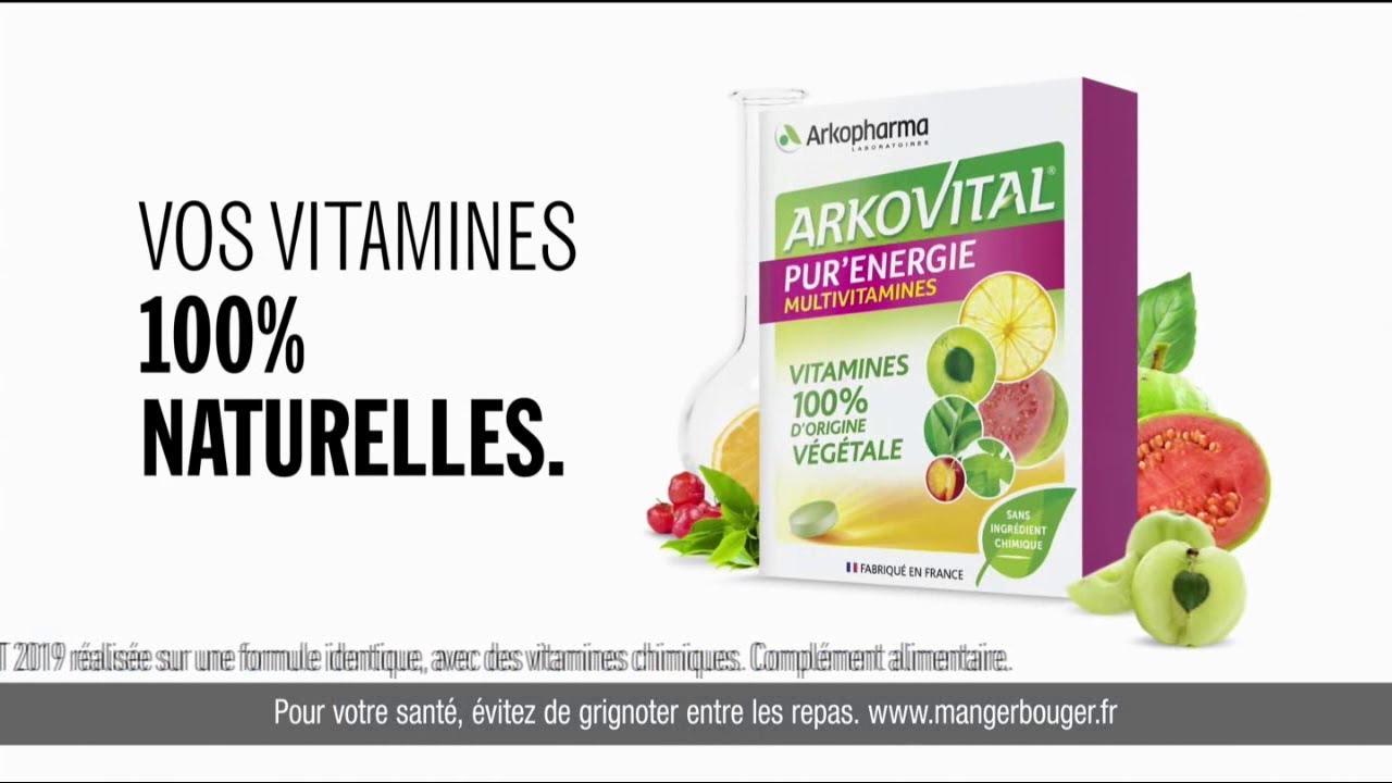 "Arkovital Pur' Energie Arkopharma Laboratoires ""vos vitamines 100% naturelles"" Pub 25"