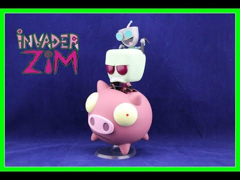 Invader ZIM & GIR on THE PIG Unboxing  | HOT TOPIC Exclusive | Guru Reviews