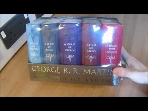 A Song Of Ice And Fire Leather Cloth Boxed Set Edition Unboxing Game Of Thrones GRRM
