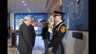 الأمين العام: راية الأمم المتحدة الزرقاء ترفرف عاليا بفضل نساء ورجال شجعان يحملونها في جنبات العالم
