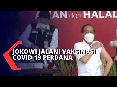 Jadi yang Pertama! Presiden Joko Widodo Disuntik Vaksin Corona Sinovac
