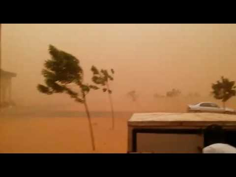 Sand storm in Sokoto, northern Nigeria.