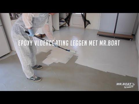 Epoxy vloercoating aanbrengen met Mr.Boat