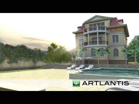 Greek Revival Style House (Artlantis Animation)
