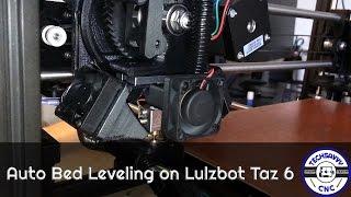 auto bed leveling on custom built lulzbot taz 6