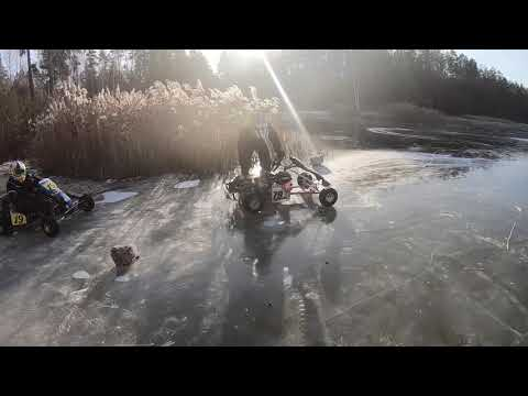ICE Karting. Rotax Max 125cc. Зимний картинг.