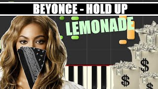 hold up beyonce lemonade piano tutorial cover synthesia midi file