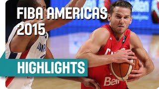 Dominican Republic v Canada - Game Highlights - Second Round - 2015 FIBA Americas Championship