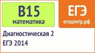 B15 по математике, ЕГЭ 2014, диагностическая 2 (12.12). Вариант 1, Запад без логарифмов(, 2013-12-23T04:12:51.000Z)