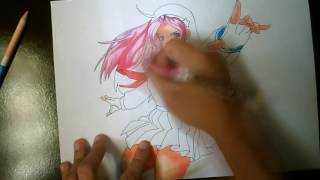 Speed Drawing Athena Asamiya  -  The King Of Fighters - 15 MINUTES VERSION