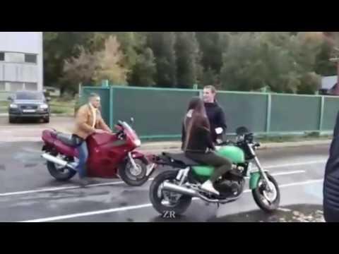 Гонки на мотоциклах закончились плачевно. Чебоксары.