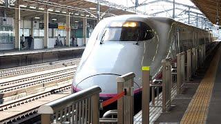 2018/10/06 東北新幹線 やまびこ209号 E2系 J57編成 新白河駅   JR East Tohoku Shinkansen: E2 Series at Shin-Shirakawa