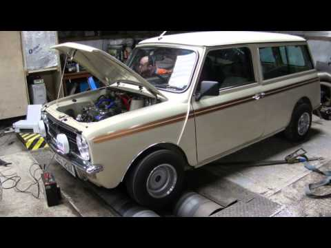 Mini estate Dyno Run at the rev shed engineering workshop. 6th of july 2014.