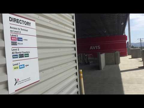 AWESOME OTIS Gen2 MRL Traction Main Elevators @ Bob Hope Airport Car Rental Garage, Burbank, CA