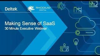Making Sense of SaaS
