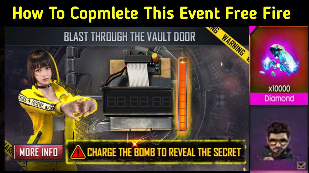 How To Copmlete Blast Through The Vault Door Event In Free Fire | New Event charge the bomb FreeFire
