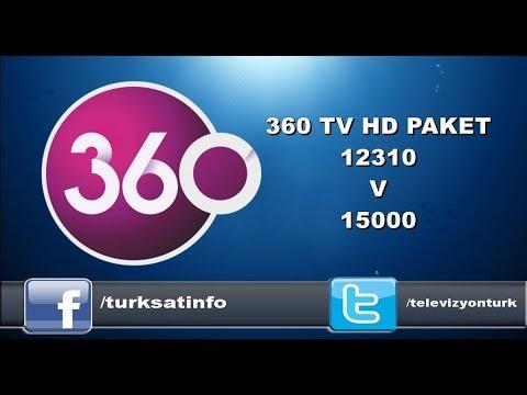 360 TV HD,24 TV HD,TV 4 HD  TÜRKSAT'TA YAYINDA 12310 V 15000