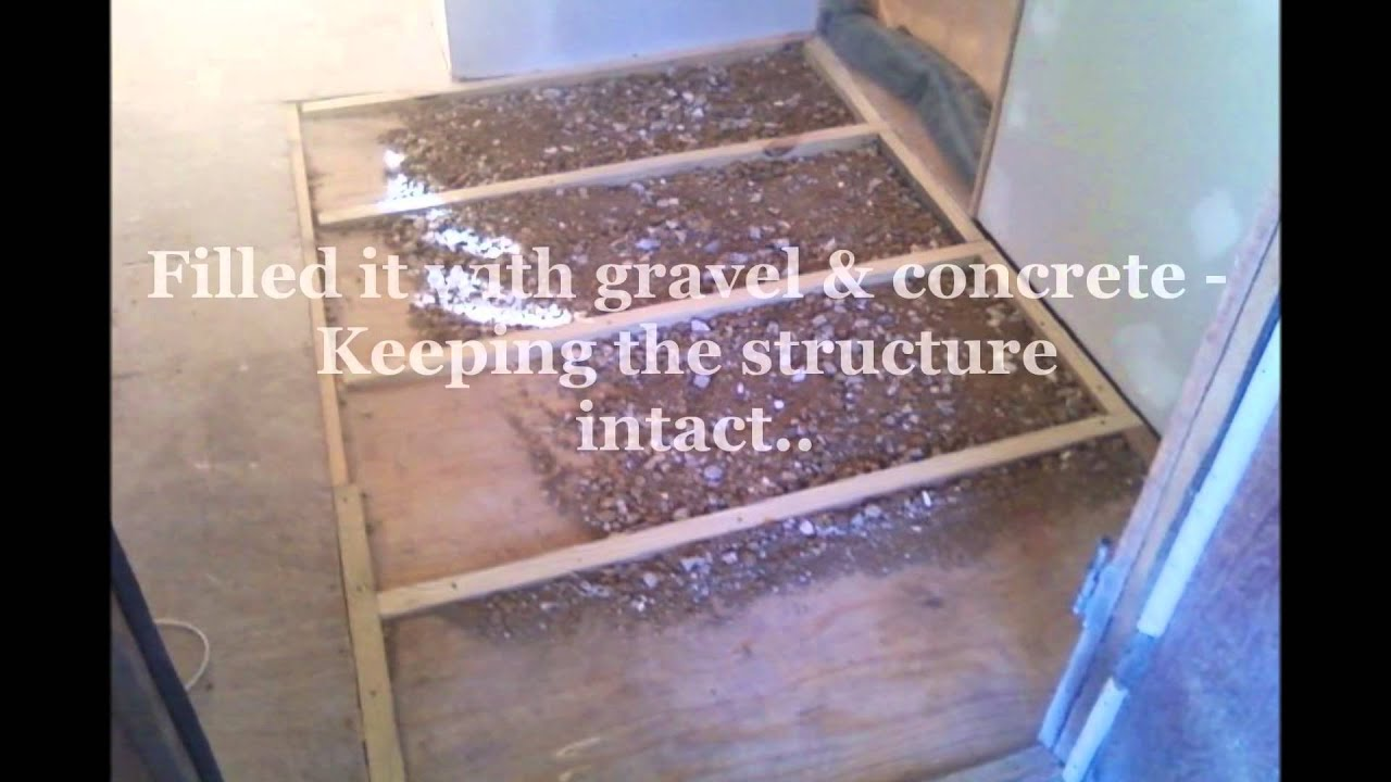 Leveling Kitchen Floor Carpenters Raise Level Floor Youtube