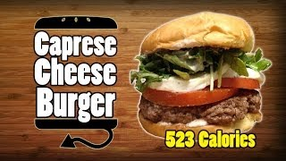 Caprese Cheeseburger W/ Smoke Tomato Aioli Recipe - Hellthyjunkfood