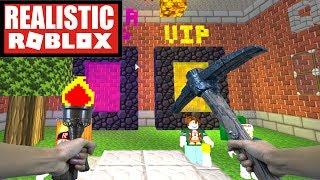 Realistic Roblox - Mineblox | Minecraft in Roblox! (MINECRAFT + ROBLOX)