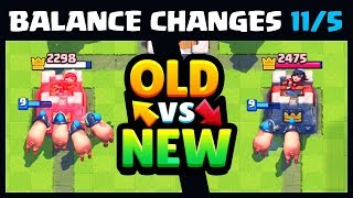 Balance Update November (11/5) OLD vs New | Clash Royale Balance Changes