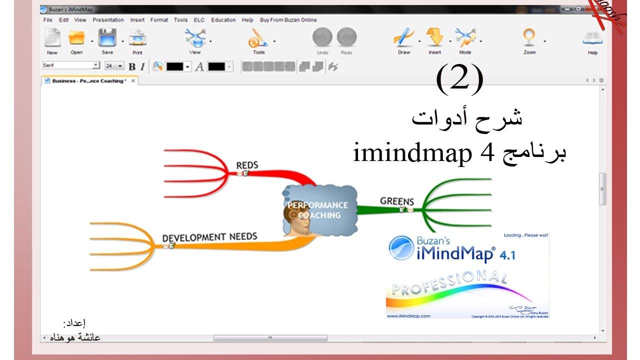 برنامج لعمل الخرائط الذهنية بالعربي