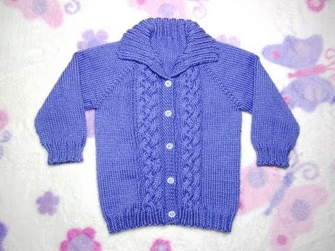 4de9015b9 How to Knit a Seamless Braided Cable Baby Sweater Part 2 - YouTube
