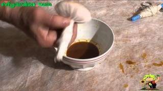 Polishing wood with wax