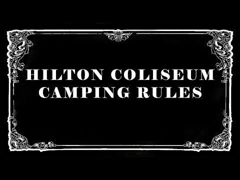 Student Camping Rules at Hilton Coliseum