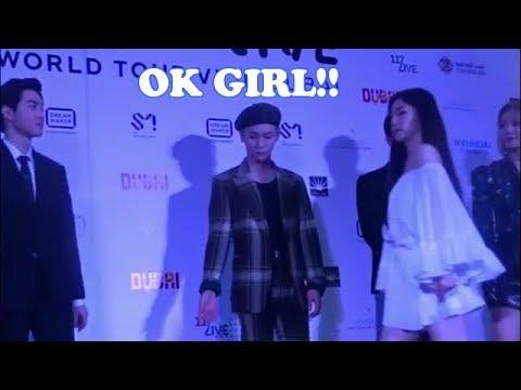 EXO Suho and Red Velvet Irene_Secret Moment 180705(Presscon)