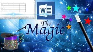 ms word magic tricks