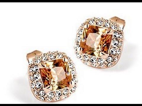 Очень красивые серьги с покрытием розового золота с алиэкспресс ( aliexpress )