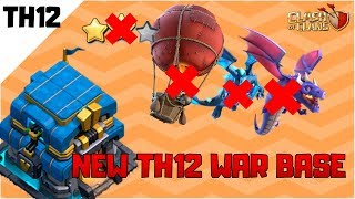 BEST NEW TOWN HALL 12 WAR BASE DESIGN with Replays 2019 | Anti Electro Dragons | Clash of Clans