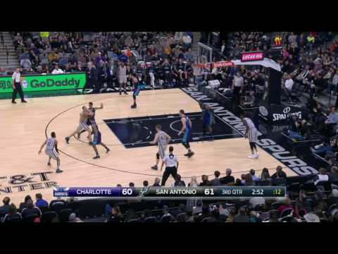 Charlotte Hornets vs San Antonio Spurs | January 7, 2017 | NBA 2016-17 Season
