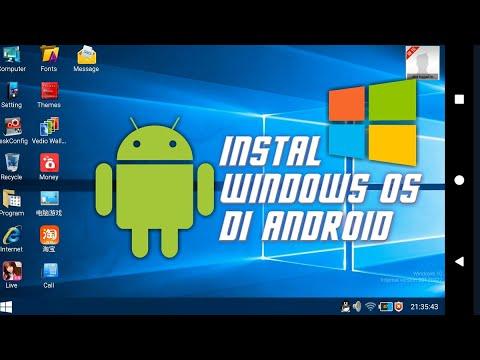 cara install windows di HP android no root | Tanpa merusak sistem handphone | Bukan Simulator.
