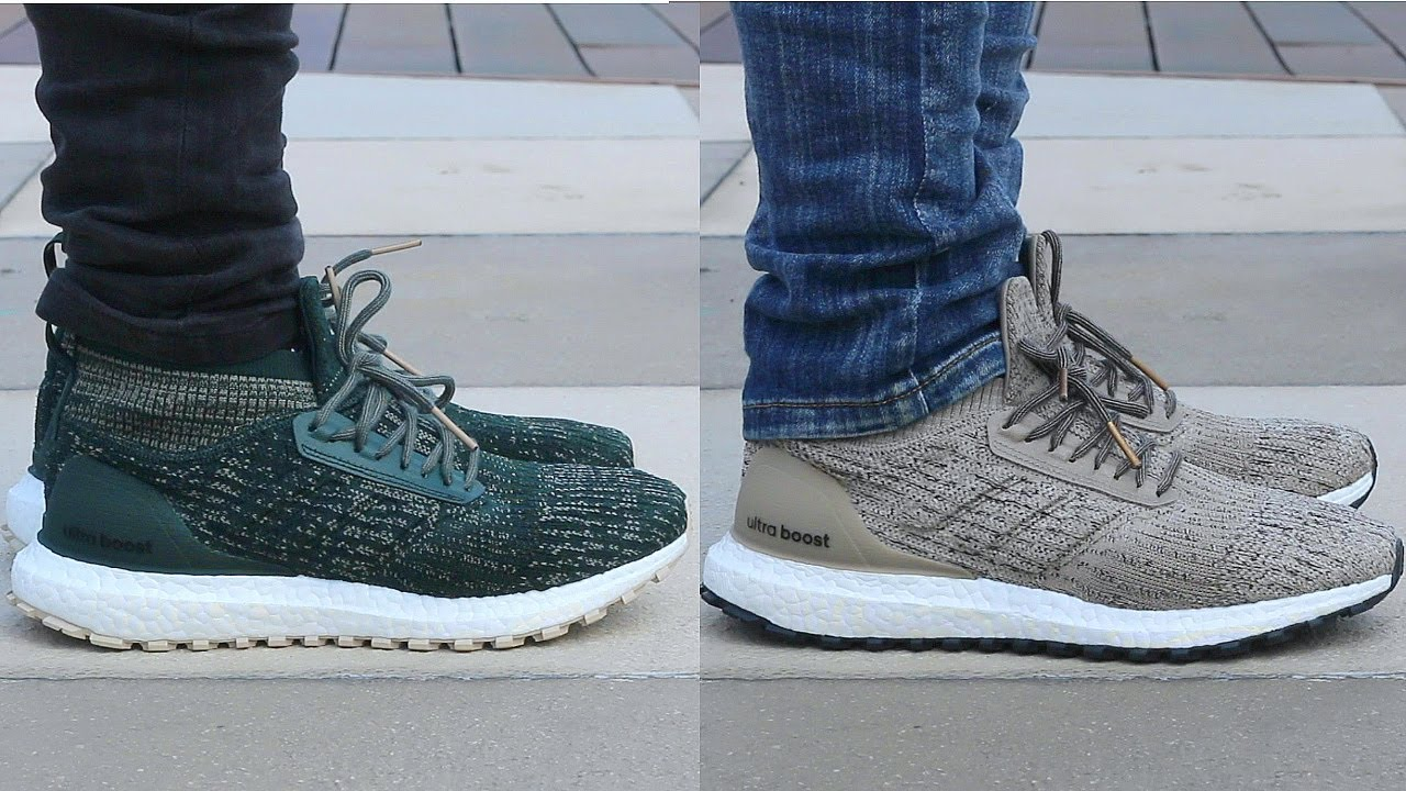 f5874e57a4ee4 Adidas Ultraboost All Terrain ATR On Feet - YouTube