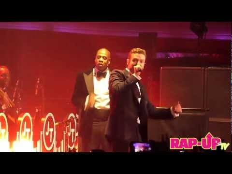 Justin Timberlake and Jay-Z Perform 'Suit & Tie' at Hollywood Palladium