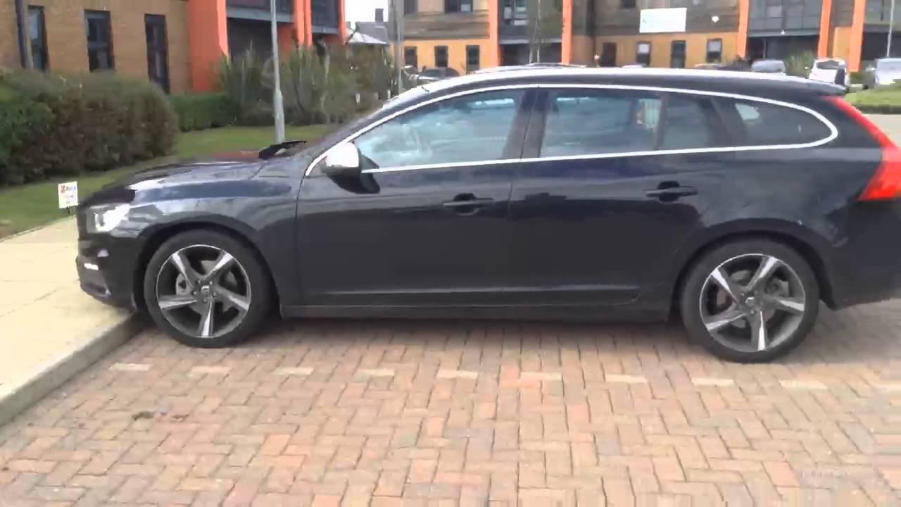 Volvo V60 Black >> Volvo V60 D4 R Design Lux Nav Black 2015 Youtube