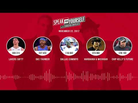 SPEAK FOR YOURSELF Audio Podcast (11.22.17) with Colin Cowherd, Jason Whitlock   SPEAK FOR YOURSELF