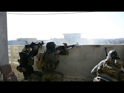 Iraqi forces near Tigris River in Mosul