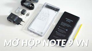 Mở hộp Samsung Galaxy Note9 chính hãng 128GB giá 22tr990