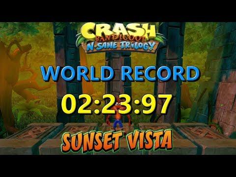 Sunset Vista World Record [PS4] 02:23:97 - Crash Bandicoot N Sane Trilogy