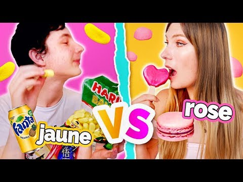 LE DERNIER A MANGER SA COULEUR GAGNE ➤ ROSE VS JAUNE