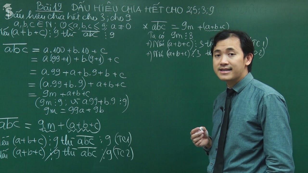 Dấu hiệu chia hết cho 2, 5, 3, 9 – Toán 6 – Giáo viên : Đỗ Văn Bảo