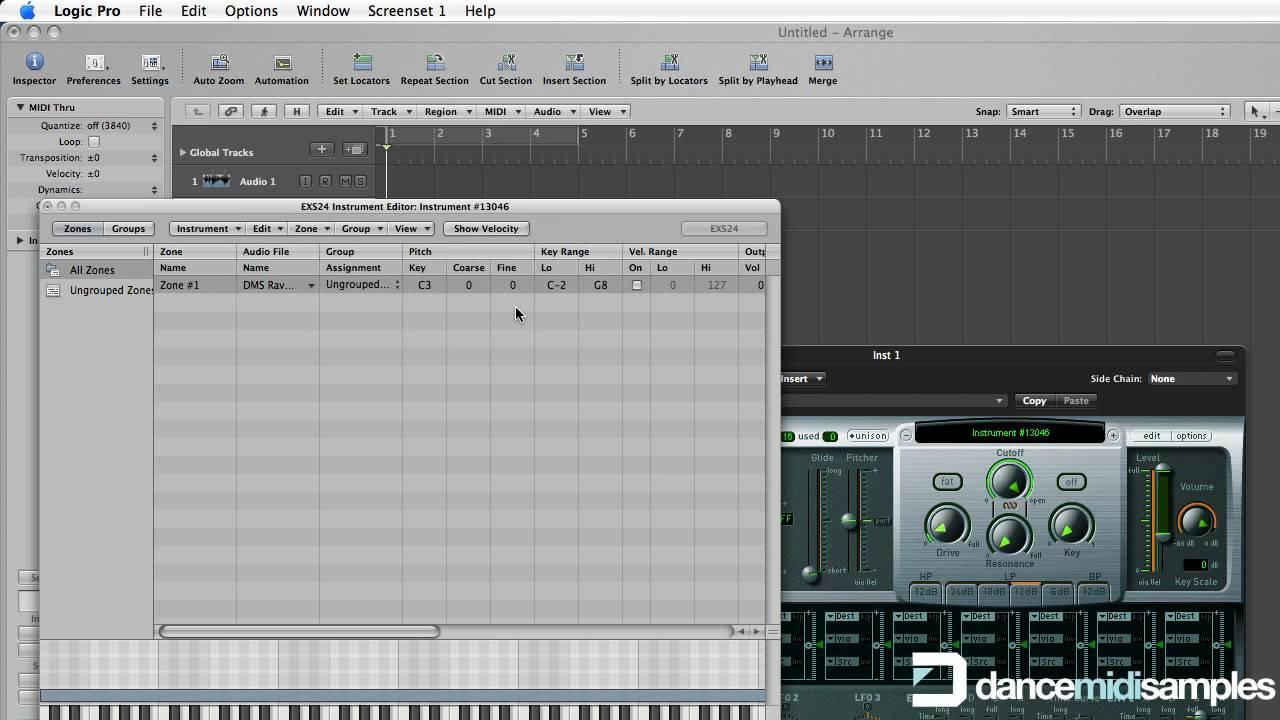 How to make an EXS24 Sampler Instrument in Logic Pro - WAV Sample ...